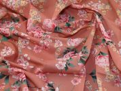 Lady McElroy Cotton Lawn Fabric  Salmon Pink