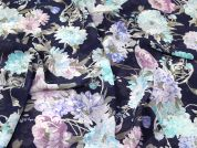 Lady McElroy Yoryu Chiffon Fabric  Multicoloured