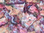 Lady McElroy Floral Chiffon Fabric  Multicoloured