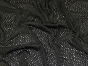 Lady McElroy Pointelle Lace Knit Fabric  Black