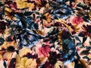 Lady McElroy Scuba Jersey Knit Fabric  Multicoloured