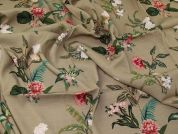 Lady McElroy Florenza Crepe Linen Look Fabric  Beige