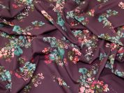 Lady McElroy Cotton Lawn Fabric  Mulberry