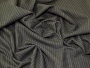 Lady McElroy Pinstripe Wool Suiting Fabric  Charcoal