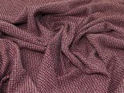 Lady McElroy Tweed Wool Coating Fabric  Pink & Plum