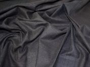 Lady McElroy Check Wool Coating Fabric  Black Brown