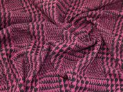Lady McElroy Houndstooth Wool Coating Fabric  Pink