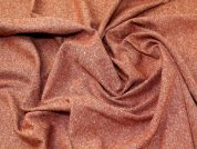 Lady McElroy Donegal Tweed Wool Coating Fabric  Terracotta