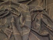 Lady McElroy Donegal Tweed Wool Coating Fabric  Brown