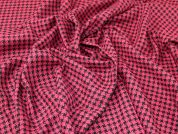 Lady McElroy Check Wool Coating Fabric  Pink