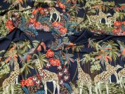 Lady McElroy Cotton Lawn Fabric  Navy Blue