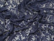 Lady McElroy Floral Lace Fabric  Navy Blue