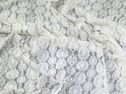 Lady McElroy Crochet Style Lace Fabric  Ivory