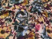 Lady McElroy Floral Florenza Crepe Fabric  Multicoloured