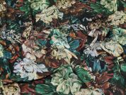 Lady McElroy Floral Viscose Challis Fabric  Multicoloured
