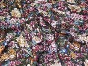 Lady McElroy Floral Cotton Lawn Fabric  Multicoloured