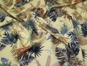 Lady McElroy Tropical Linen Look Fabric  Lemon