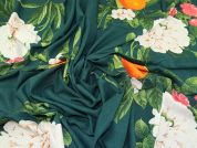 Lady McElroy Orange Blossom Linen Viscose Fabric  Green