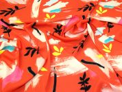 Lady McElroy Popcorn Crepe Fabric  Orange