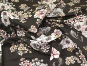 Lady McElroy Floral Cotton Lawn Fabric  Cappuccino