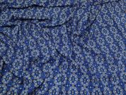 Lady McElroy Viscose Challis Fabric  Royal Blue