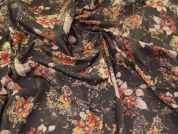 Lady McElroy Floral Cotton Lawn Fabric  Brown