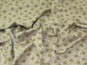 Lady McElroy Floeal Linen Cotton Fabric  Natural