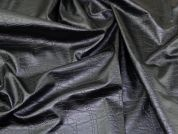 Lady McElroy Worn Effect Faux Leather Fabric  Black