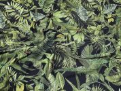 Lady McElroy Foliage Canopy Crepe Fabric  Green