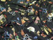 Lady McElroy Viscose Stretch Crepe Fabric  Black
