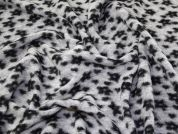 Lady McElroy Wool Knit Coating Fabric  Black & Grey