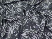 Lady McElroy Leaves Cotton Lawn Fabric  Grey