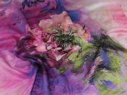 Lady McElroy Large Scale Floral Silk Fabric  Multicoloured