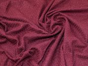 Lady McElroy Lurex Wool Coating Fabric  Wine