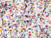 Lady McElroy Stretch Cotton Twill Fabric  Multicoloured