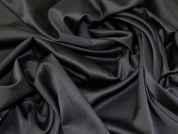 Lady McElroy Satinized Stretch Suiting Fabric  Black
