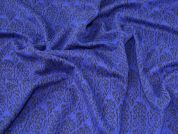 Lady McElroy Cloque Ponte Roma Jersey Fabric  Royal Blue
