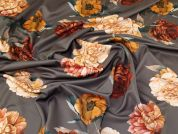 Lady McElroy Floral Scuba Knit Fabric  Rust