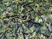 Lady McElroy Floral Scuba Knit Fabric  Green