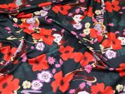 Lady McElroy Floral Scuba Knit Fabric  Multicoloured