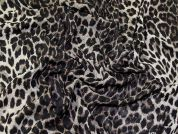 Lady McElroy Animal Print Chiffon Fabric  Black & Brown