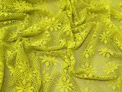 Lady McElroy Crochet Style Lace Fabric  Citrus