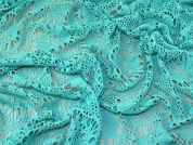 Lady McElroy Crochet Style Lace Fabric  Turquoise