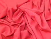 Lady McElroy Stretch Crepe Suiting Fabric  Coral Pink