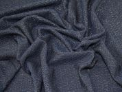 Lady McElroy Lurex Textured Jersey Knit Fabric  Navy Blue