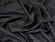 Lady McElroy Pinstripe Wool Suiting Fabric  Black