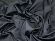Lady McElroy Stretch Sateen Suiting Fabric  Black