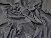 Lady McElroy Rib Jersey Knit Fabric  Dark Grey