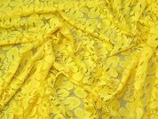 Lady McElroy Stretch Lace Fabric  Yellow