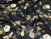 Lady McElroy Stretch Cotton Twill Fabric  Black